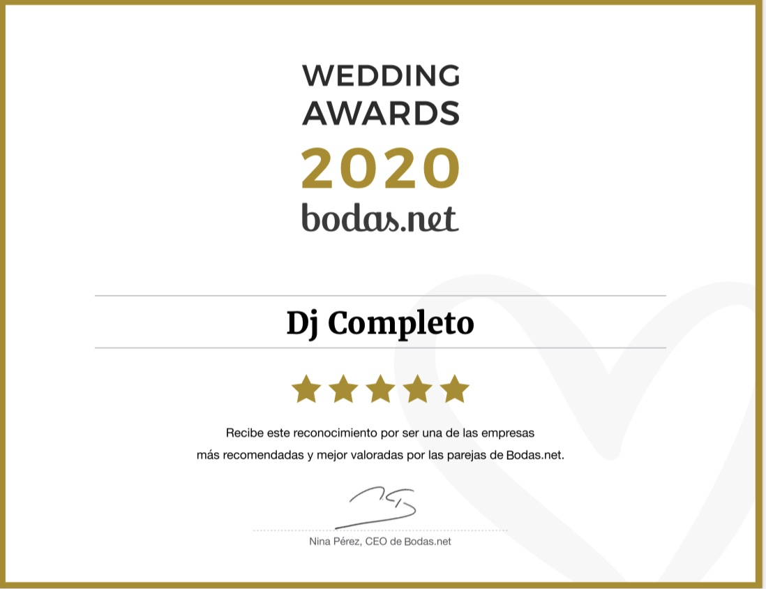DJ Completo - Wedding Awards 2020
